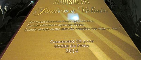 Placa de Homenagem Bíblia