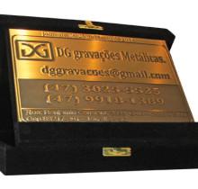 Placa de Homenagem em Latão