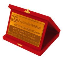 Placa de Homenagem em Latão Vermelha